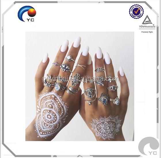 Putih Henna Tato Stiker Tato Temporer Henna Putih Lace Bridal