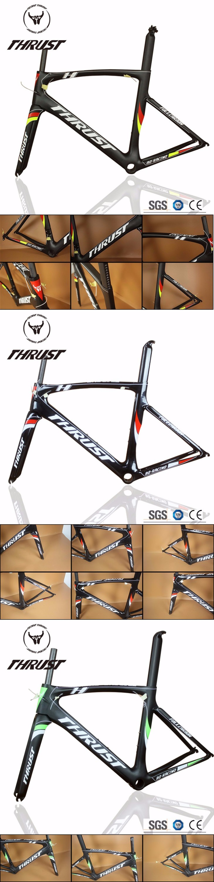 THRUST AG RACING-Version T800 Carbon Fiber UD Sales Promotion/2 Years Warranty OEM Customized Acceptable Carbon Road Bike frame