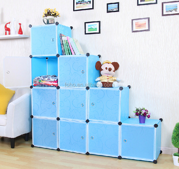 Amazing DIY Assembly Stackable Plastic Storage Cubes FH AL0038 10