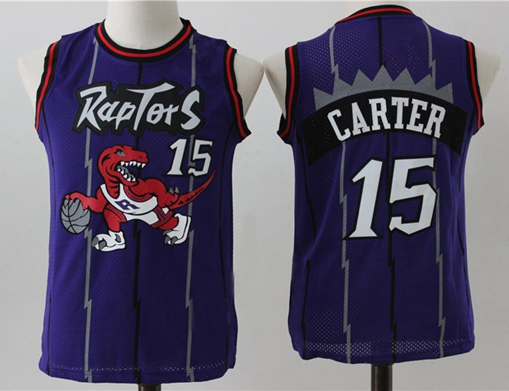 new concept 1e410 b4663 Buy Vince Carter #15 Toronto Raptors Purple Throwback Jersey ...