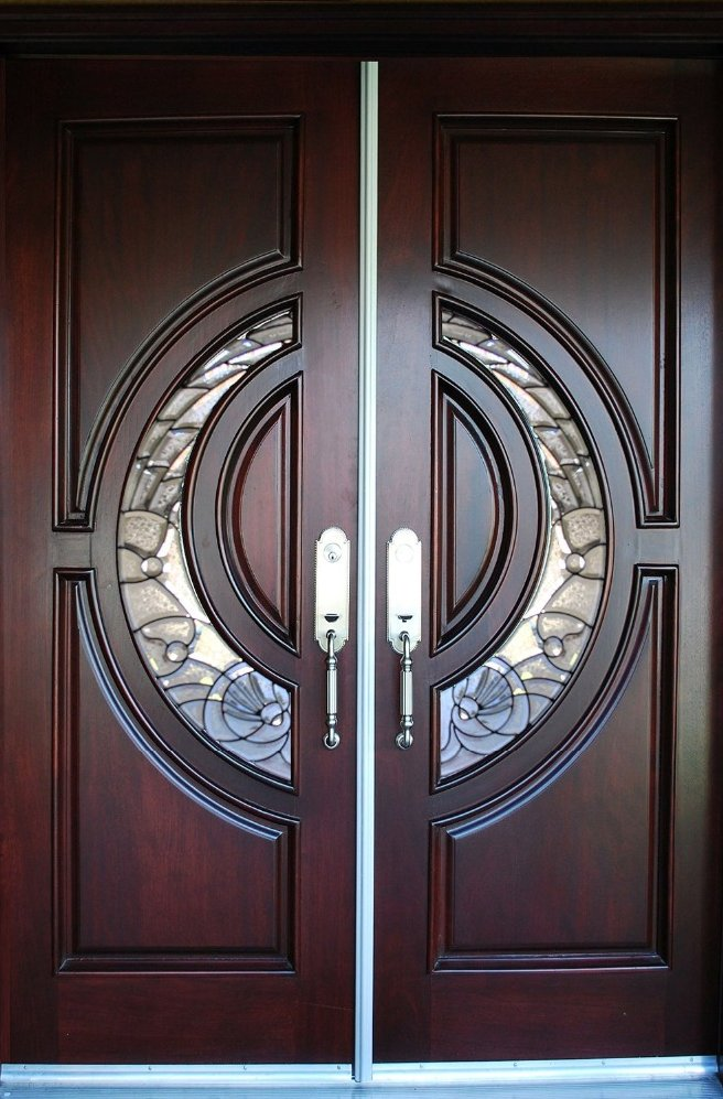 hot sell 100% Mahogany or solid Wood Door double main entry door