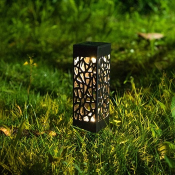 Solar Lights Outdoor Garden Path Lighting Glow Led Pathway Front Gate Bright Landscape Bollard Light Waterproof Sidewalk Lamp