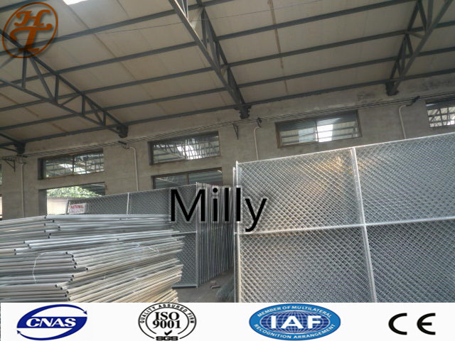 Security Site Fencing Panels 6x12 Feet Chain Link