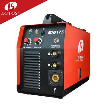 lotos mig175 low price gasless mig welder machine for factory supplier