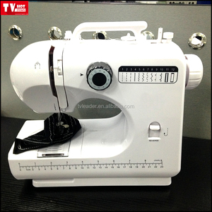 Multi-purpose Compact Sewing Machine 4 Step Button Holes and 12 Stitches with Automatic Needle Threader