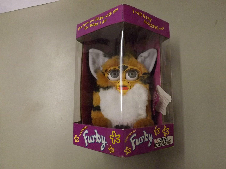 Furby Tiger Electronics Orange with Black Stripes with Orange Feet (Tiger)