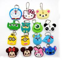 Direct Factory Wholesale Customized Logo Soft PVC Rubber Key Chains Cartoon Key Cover Caps