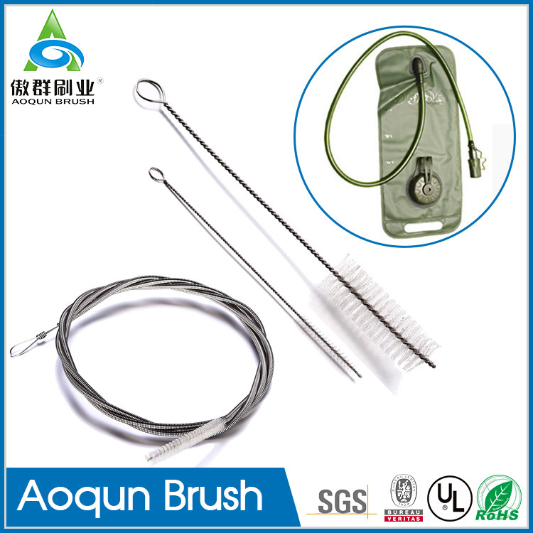 Factory price water pouch backpack brush,water bladder cleaning kit,backpack hydration system brush