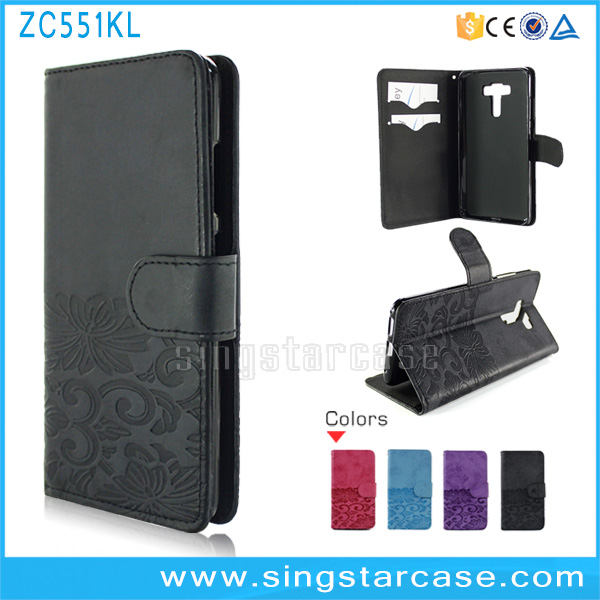 the latest 2a4d6 edee3 Cheap Price Retro Embossing Leather Flip Cover Case For Asus Zenfone Laser  3 5.5