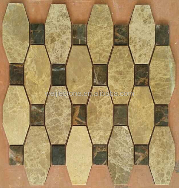 Oddly shaped stone / marble / granite / slate tile mosaic for ...