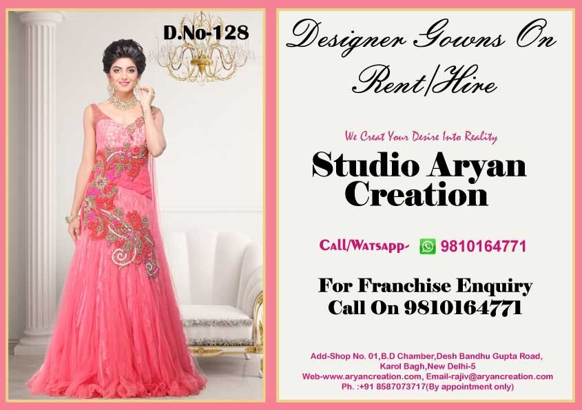 Designer Evening Gown On Rent - Buy Latest Designs Evening Gowns ...