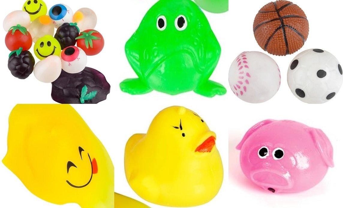 Squishy Splat Ball Assortment Pack (1 Dozen different Splat Balls)