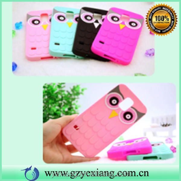 Factory price cute silicon phone case for Samsung galaxy s5 back case cover