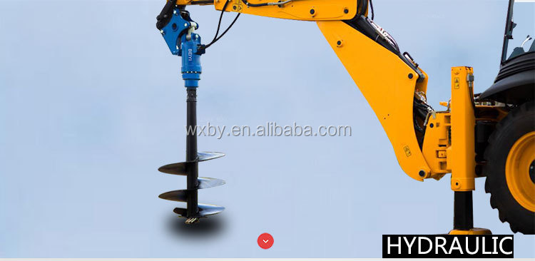 Excavator mounted earth drill auger BY-AD80 for sale to dig hole