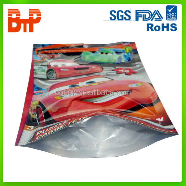 Top zip plastic bag/oppself adhesive sealing bags for CD/Toys/Gift packaging plastic bags
