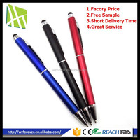 The Cheapest Promotional High Sensitive Plastic Stylus Touch 2 in 1 Pen