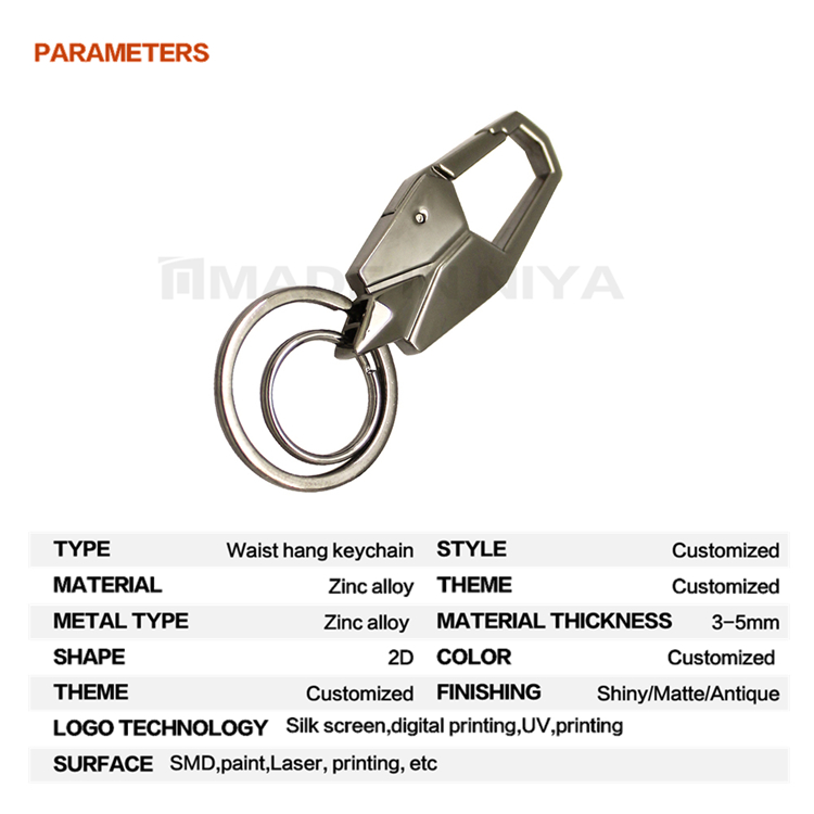Malaysia Raw Material Waist Hang Parts And Accessories Keyholder Keychain