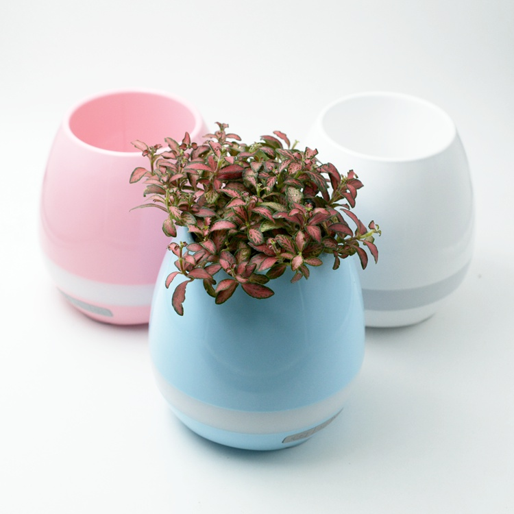 2017 new style bluetooth speaker smart music plant flower pots for home and office
