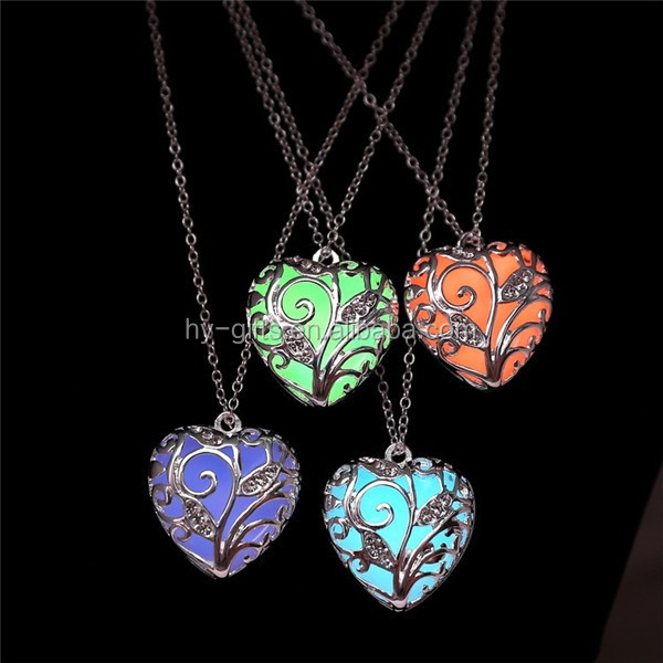 best fashion glowing necklace lady glow locket luminous necklace