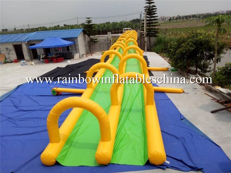 Tropical Dual Lane Inflatable Slip And Slide Inflatable