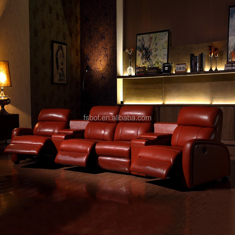 Theater Furniture 100 Leather Dream Lounger Recliner Sofa