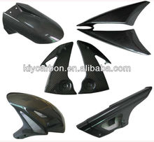 Carbon fiber racing parts for Kawasaki motor
