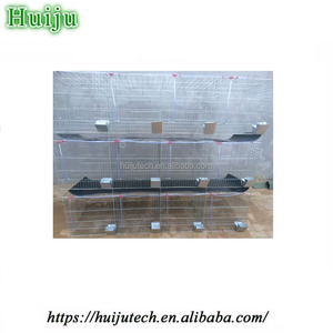 portable rabbit cage/Commercial Wholesale Cheap metal Rabbit Cage Breeding With Plastic Tray For Sale