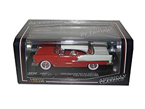 1955 Chevrolet Bel Air Hard Top India Ivory/Gypsy Red 1/43 by Vitesse 36323