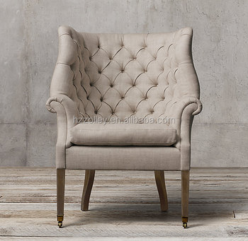 Luxury Chair Furniture Fabric Tufted