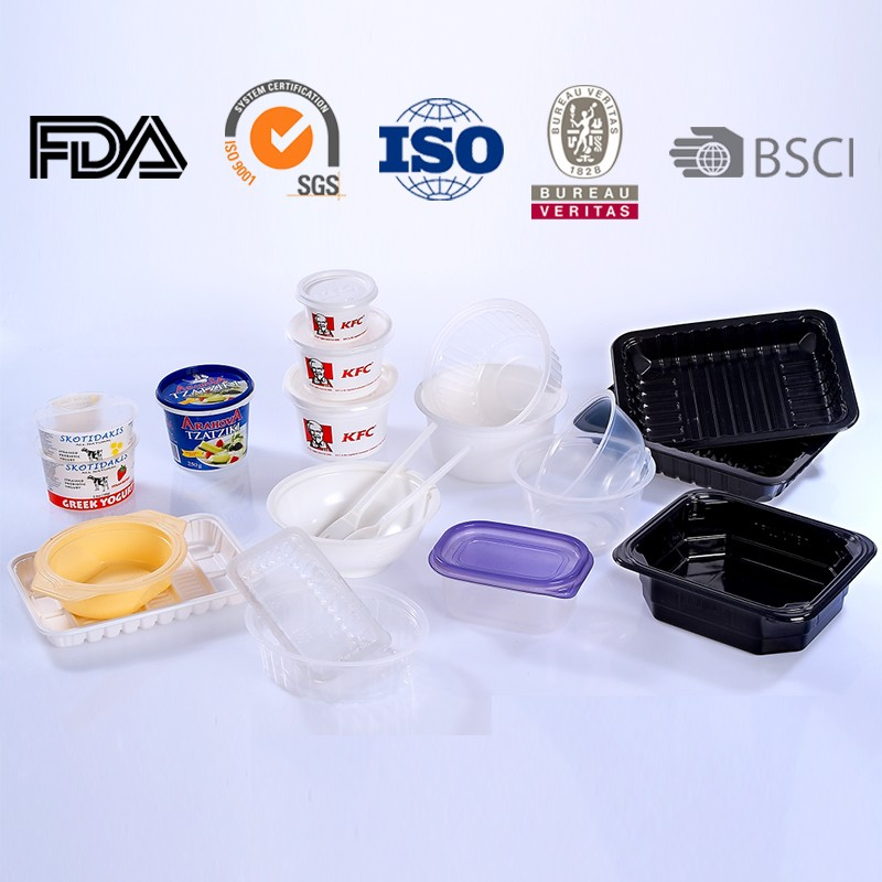 High quanlity PS material disposable plastic sandwich box