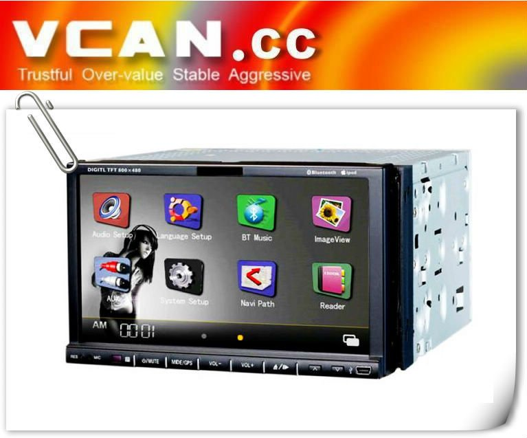 2DIN DVD GPS player/IPOD/BLUETOOTH/SD/USB/MMC VCAN0051
