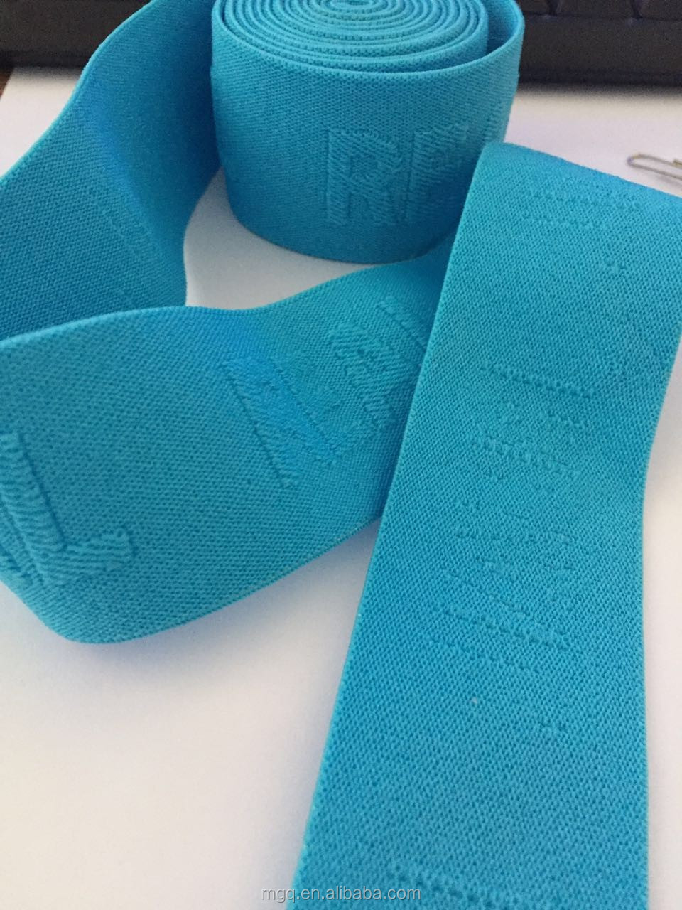 elastic band for underwear wristband wholesale jacquard blue webbing