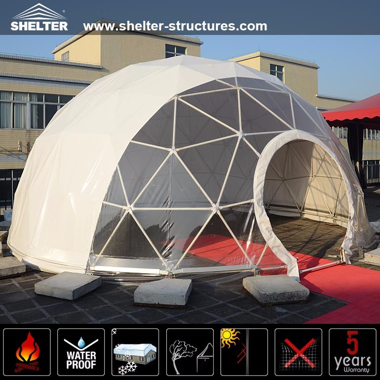 Steel Frame Structure Geodesic Dome Tent For Event - Buy ...