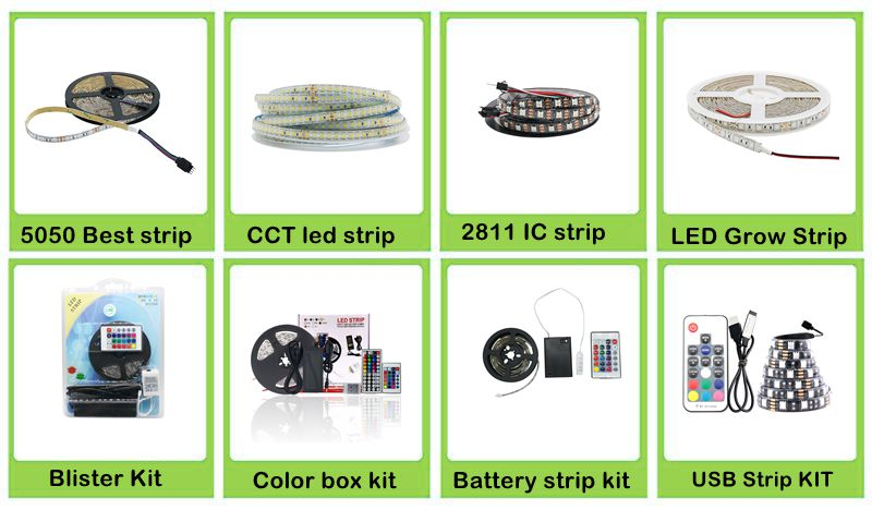 Double Color LED Strip Light SMD 2835 5050 180Led//m CW//WW Dual White CCT 12V 24V