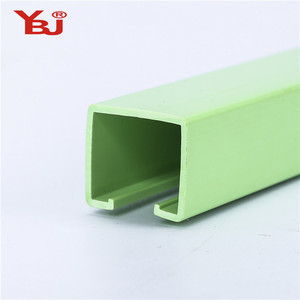 Sliding PVC Electric Ripple Fold Curtain Track Rail For Curtain