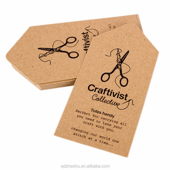 f7685118 custom Logo clothing Printed recycled paper tag , printing hang tags for  garment manufacturer