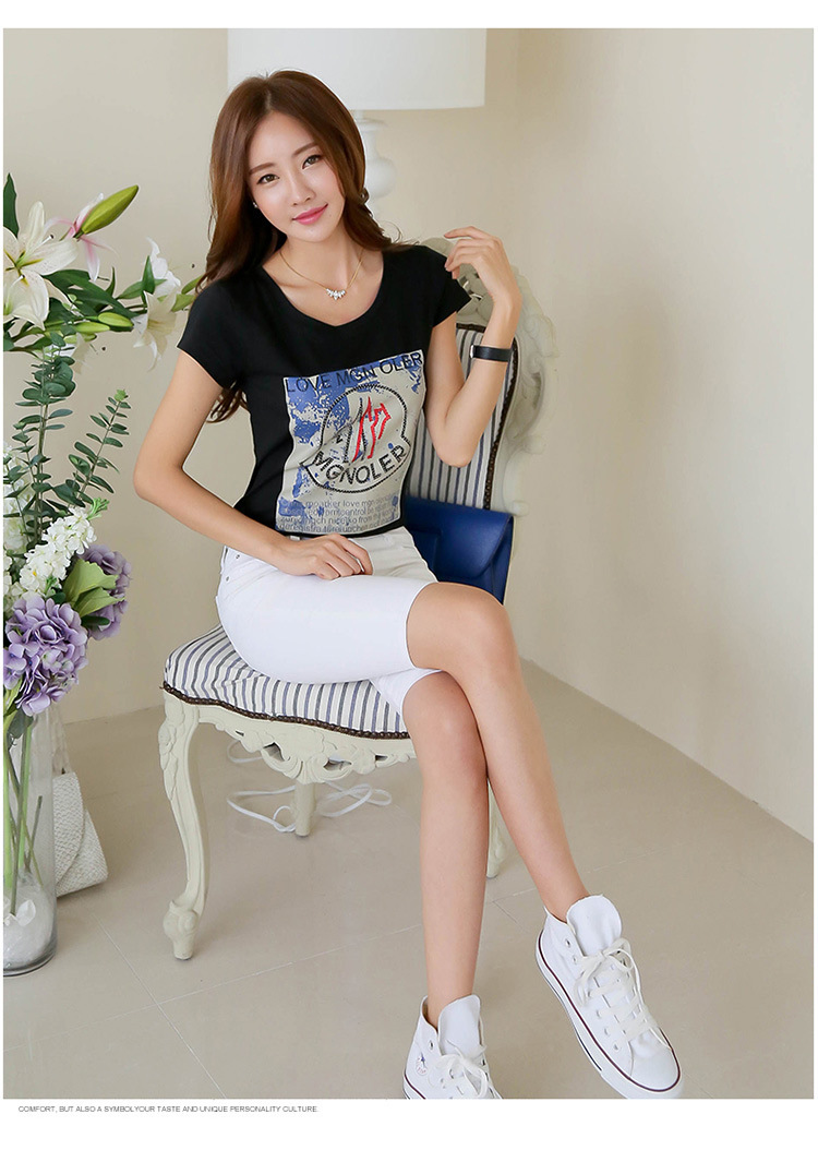 Shirt design ladies 2015 - 2015 Funky T Shirt Design For Ladies Trendy Popular China Manufacturer Wholesale T Shirt With Logo