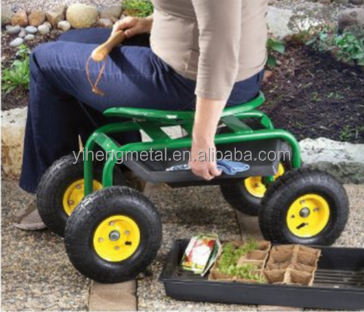 Green Garden Cart With Wheels Green Garden Cart With Wheels