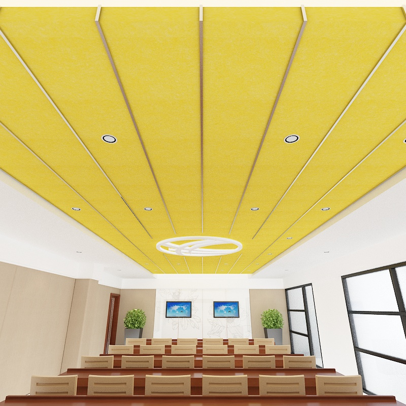 Hanging Baffle Light PET Ceiling for Conference Room