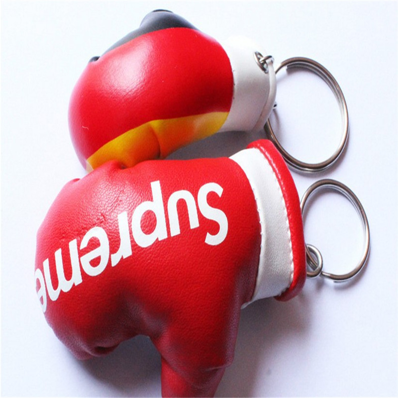 Unionpromo newest pvc custom mini boxing glove keychain
