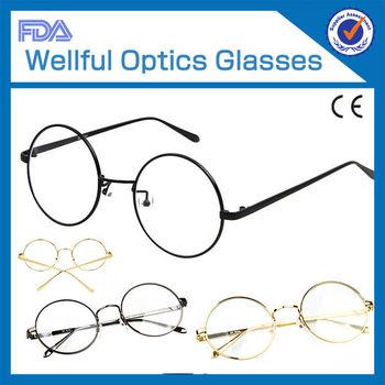 a5ea87ef3d NO.1326 GOLD funny round vintage mental wholesale optics frame eye glass