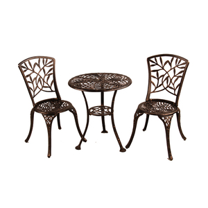 easy to use cane metal cast aluminum iron frame patio furniture