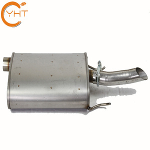 high performance aftermarket muffler for car hot sell 21558 stainless steel universal muffler tip
