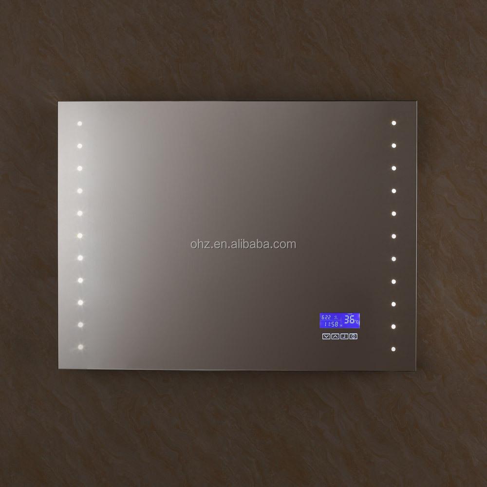 2016 Heißer Verkauf Badezimmer Wandspiegel Mit Led,Uhr,Temperatur ...