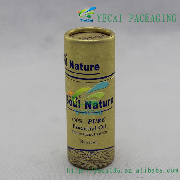 bespoke recyclable paper tube lighter packaging with cover