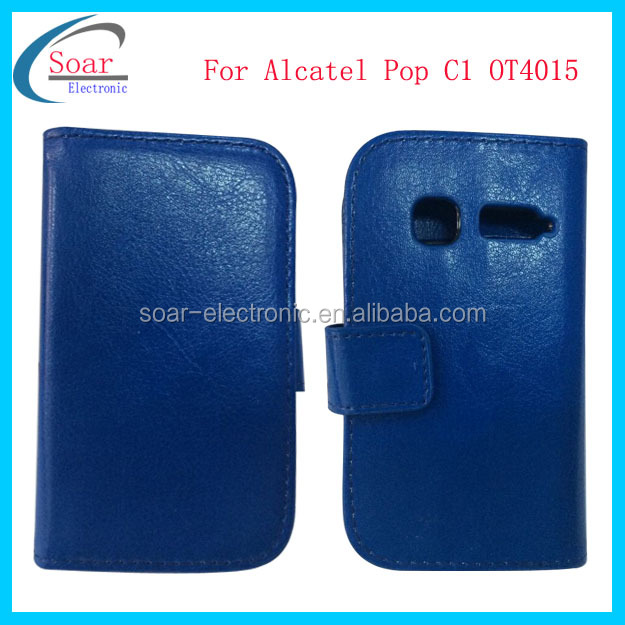 Mobile phone case For Alcatel One Touch Pop C1 ot4015 flip cover