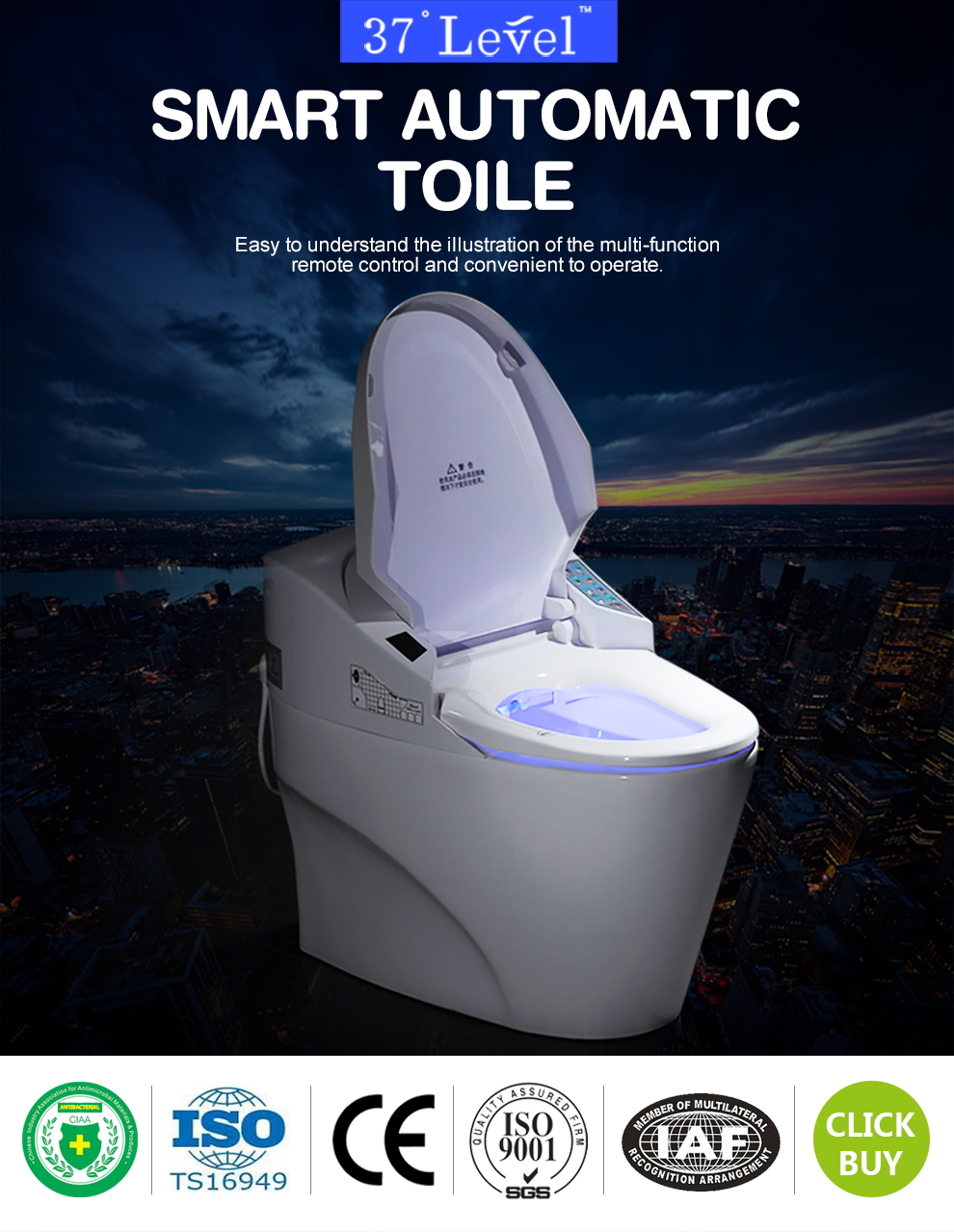 Smart Toilet Japanese Automatic Electric Toilet China Manufacturer ...