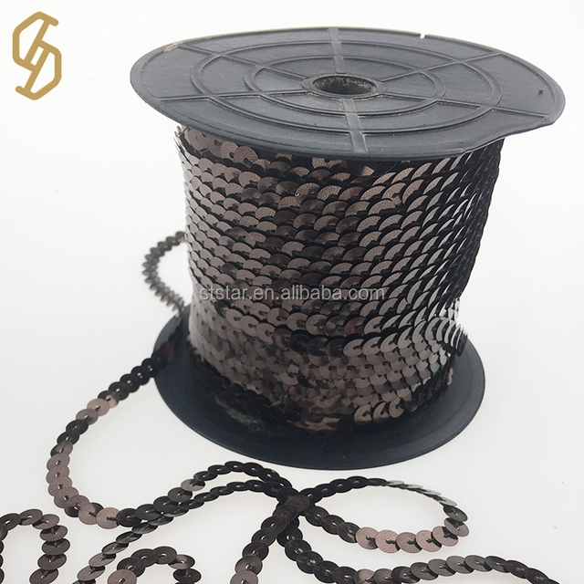 2017 High quality round flat sequin chain roll for machine with fabric embroidery