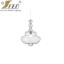 2017 Creative Modern Transparent Glass Pendant Lamp from Zhongshan Suppliers In China