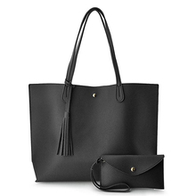 Minimalista Clean Cut Pebbled Faux Leather Tote Delle Donne Borsa Della Spalla